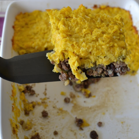 Sweet Corn Pie With Ground Beef Filing