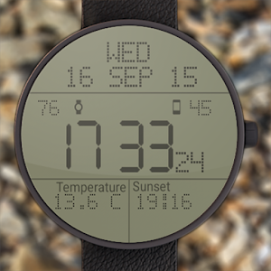 LCD Watchface With Weather