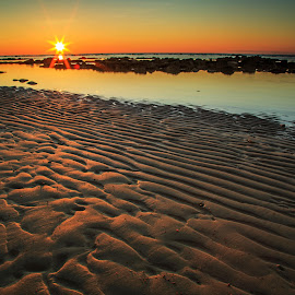 Labuan sunrise by Daimasala Abdullah - Landscapes Waterscapes ( sunset sky, coconut, waterscape, tropical, ocean, beach, landscape, sun, coast, sky, sunny, treetropic, water, orange, romantic, sea, seascape, paradise, coastal, palm, vacation, color, plam, sunset, background, summer, view, sunrise, golden )