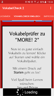 VokabelCheck 2 - screenshot
