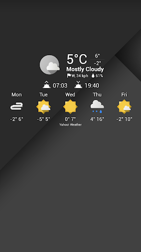 Weather Icons MTRL for Chronus - screenshot