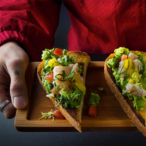 Avocado Toast with Shrimp Salad