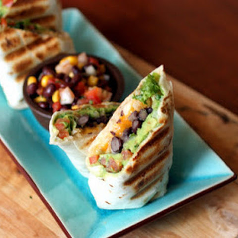 Guac and Black Bean Burritos