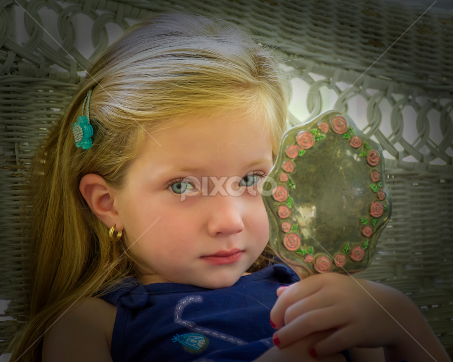 Blue-eyed beauty by Joe Saladino - Babies & Children Child Portraits ( girl, family, portrait, eyes, child )