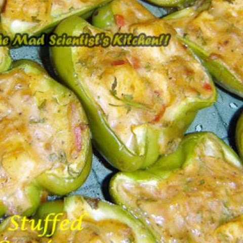 Capsicum Stuffed with Tofu and White Sauce~Lets Go Stuffing Series