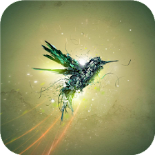 Green bird fly Live wallpapers