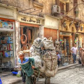 Grabage Man by Tawfik Dajani - People Street & Candids