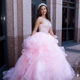 Quince in Pink by Matthew Chambers - People Portraits of Women ( dress, quinceaneera, teen )