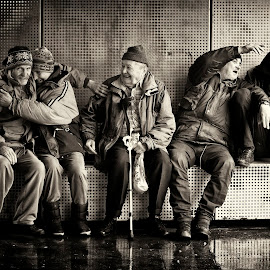 If you have nothing, you have nothing to lose by Rado Krasnik - People Portraits of Men ( poverty, homeless, beggars, under the bridge, street photography )
