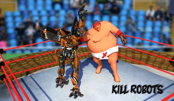 Real robot Ring Sumo Wrestling Revolution Battle apk screenshot