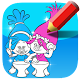 Coloring book game for trolls