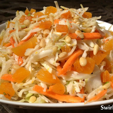 Orange Basil Cole Slaw with Apricots & Pine Nuts