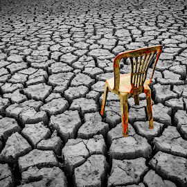 Loneliness by Ovidiu Sova - Artistic Objects Furniture ( chair, dry, riverbed, loneliness, drought,  )