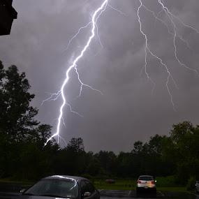 POW! by Thomas Fitzrandolph - Landscapes Weather ( lightning, nature, niagara county ny, power, storms, nikon, lockport ny, nightscape,  )