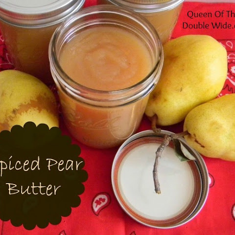 Homemade Spiced Pear Butter