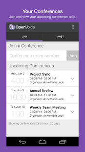 OpenVoice Audio Conferencing screenshot for Android