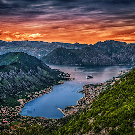 Kotor, Montenegro 006 by IP Maesstro - Landscapes Travel ( montenegro, mountain, ip maesstro, hdr, bay, sunset, sea, kotor, sunrise,  )