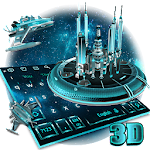 3D Space Galaxy Keyboard Theme Icon