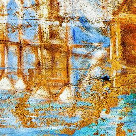 Crack in the Wall by Garry Dosa - Abstract Patterns ( abstract, crack, outdoors, mural, painting, wall, colours )