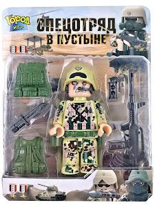 """Конструктор """"спец отряд"""" в пустыне штурмовик"""