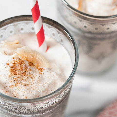 Cococut-Horchata Rum Frosty