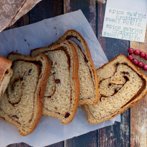 Spice-Swirled Cranberry Sweet Potato Bread