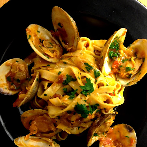 Clams Carbonara