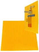 Пластина Baseplate для конструкторов, желтая, одностороняя