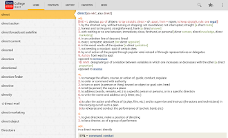 Screenshot of Webster's College DictionaryTR