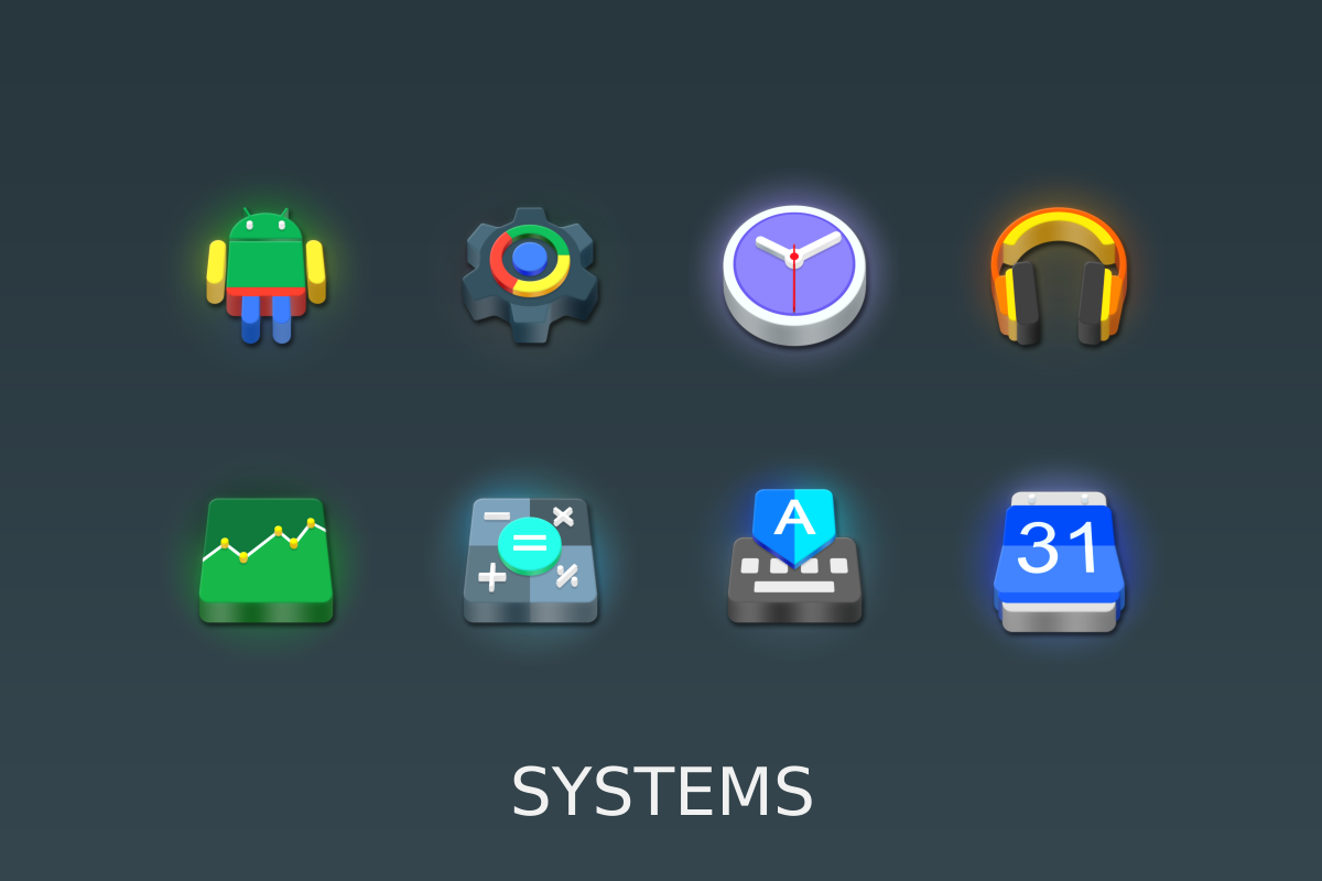 LED 3D Icon Pack Screenshot 7