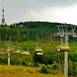 TRIP TO THE PEAK by Wojtylak Maria - Landscapes Travel ( mountains, nature, cableway, view, trip, poland )