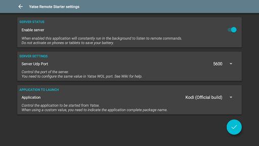Yatse Remote Starter - screenshot