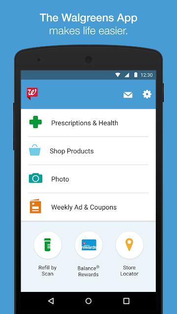 Walgreens screenshots