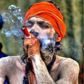 The Hermit by Rakesh Das - People Portraits of Men