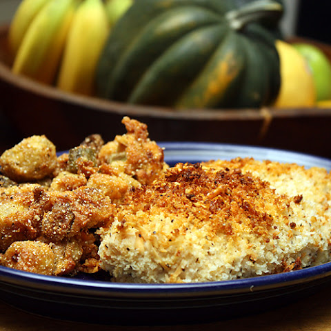 Oven Fried Chicken In Panko & Parm