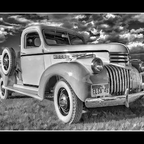 1946 Chevy by Bill Hutson - Transportation Automobiles ( vintage, truck, auto, chevy, restored )