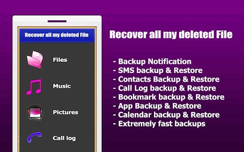 App إسترجاع جميع الملفات الممسوحة APK for Kindle