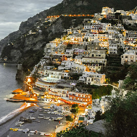 Above Positano by Richard Michael Lingo - Landscapes Travel ( positano, hillsides, amalfi coast, landscape, italy )