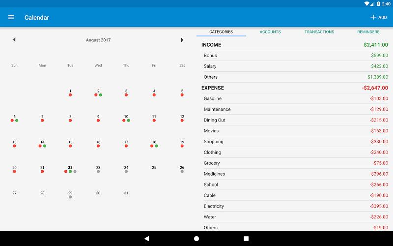 Bluecoins- Finance & Budget Screenshot 10