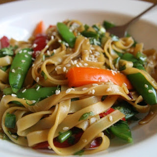 Sesame Noodles with Seasonal Vegetables