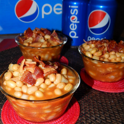 Slow Cooker PEPSI Baked Beans! #GameDayGlory