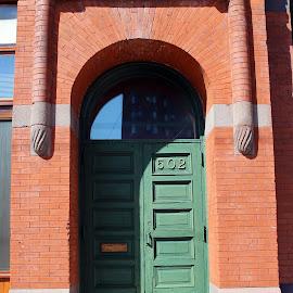 Green Door, Minneapolis, MN by Jo Brockberg - Buildings & Architecture Architectural Detail