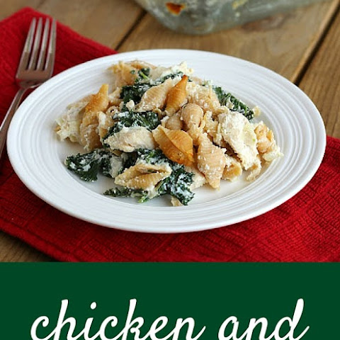 Chicken and Kale Casserole with Whole Wheat Pasta
