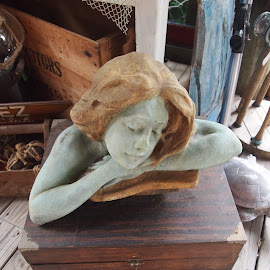 Dreaming by Jackie Sleter - Artistic Objects Antiques ( dreamy, ship, sea, antique, nautical )