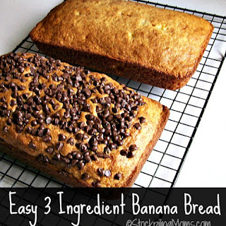 Easy 3 Ingredient Banana Bread