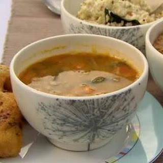 Yellow Lentil Soup With Spiced Doughnuts