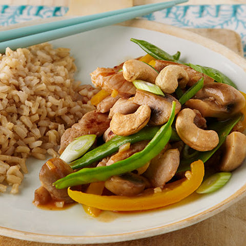 Pork, Snow Pea & Mushroom Stir-Fry for Two