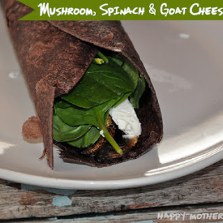 Portobello Mushroom, Spinach and Goat Cheese Wrap