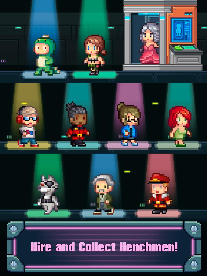 Tap Tap Evil Mastermind - Pixel Idle Clicker Screenshot 11