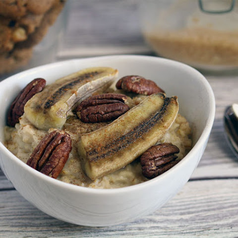Almond Butter Porridge With Roasted Bananas